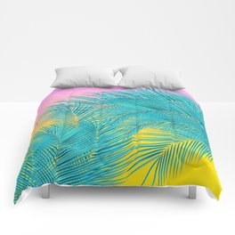 Summer Palm Leaves Comforters