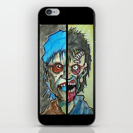 Two Half Zombie iPhone Skin