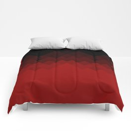 Dragon Ombre Scales Pattern (Red) Comforters