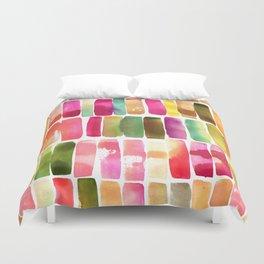 Watercolor Stripes Duvet Cover