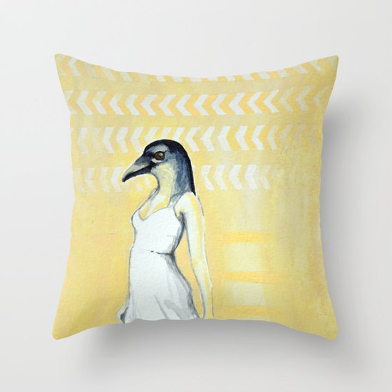 Dancing Until Flight Throw Pillow