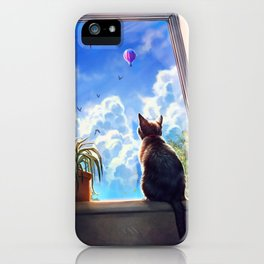 It's a big world out there iPhone Case