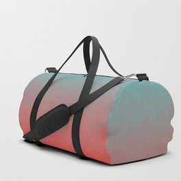 Cyan to red ombre flames Miami Sunset Duffle Bag