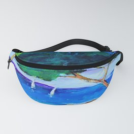 Cypress by the sea Fanny Pack