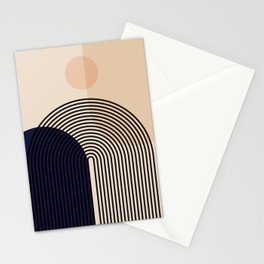 Abstraction_NEW_SUN_SHAPE_MOUNTAINS_LINE_POP_ART_M0202A Stationery Cards