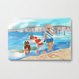 A Day at the Beach (finished) Metal Print