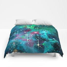 Emerald Nebula Comforters