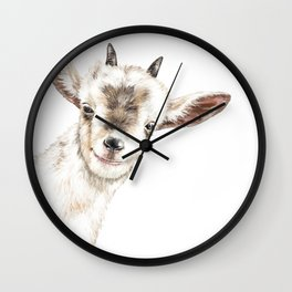Oh My Sneaky Goat Wall Clock