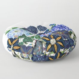 Vintage & Shabby Chic - Blue Flower Summer Meadow Floor Pillow