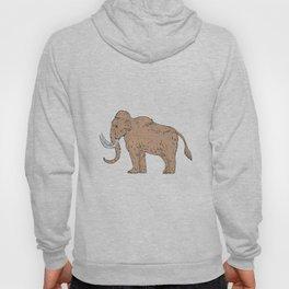 Woolly Mammoth Side Drawing Hoody