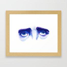 Eyes of Poe Framed Art Print