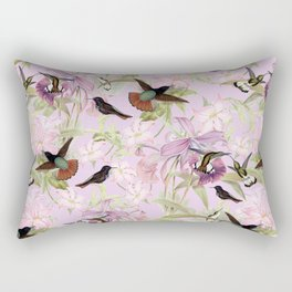 Vintage & Shabby Chic - Hummingbird tropical Jungle Pattern Rectangular Pillow
