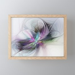 New Life, Abstract Fractals Art Framed Mini Art Print