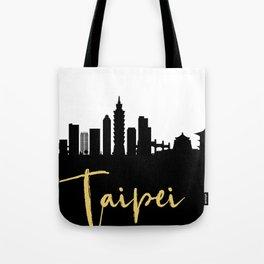 TAIPEI TAIWAN DESIGNER SILHOUETTE SKYLINE ART Tote Bag