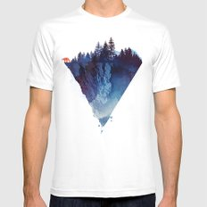Near to the edge MEDIUM White Mens Fitted Tee
