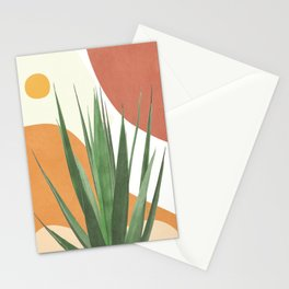 Abstract Agave Plant Stationery Cards