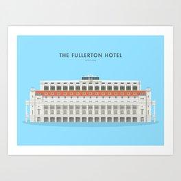 The Fullerton Hotel, Singapore [Building Singapore] Art Print
