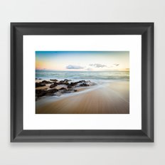 Follow me...into the sea Framed Art Print