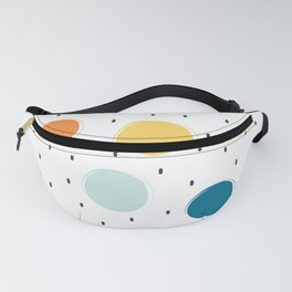 cute colorful pattern with grunge circle shapes Fanny Pack