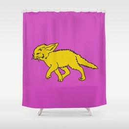 The Sly Fennec Fox Shower Curtain