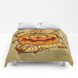 Halloween dark khaki Comforters