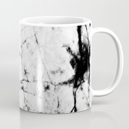 Marble Concrete Stone Texture Pattern Effect Dark Grain Coffee Mug