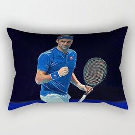 Tennis legend Roger Federer Rectangular Pillow