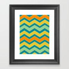 Chevron Framed Art Print
