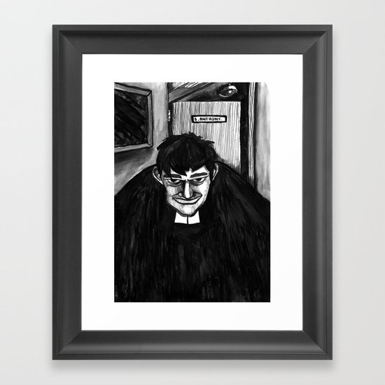 B.A Framed Art Print
