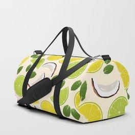 Lime Lemon Coconut Mint pattern Duffle Bag
