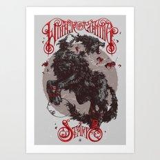 The Direwolf Art Print