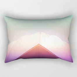 Dreamy Pastels of the Lotus Temple Rectangular Pillow