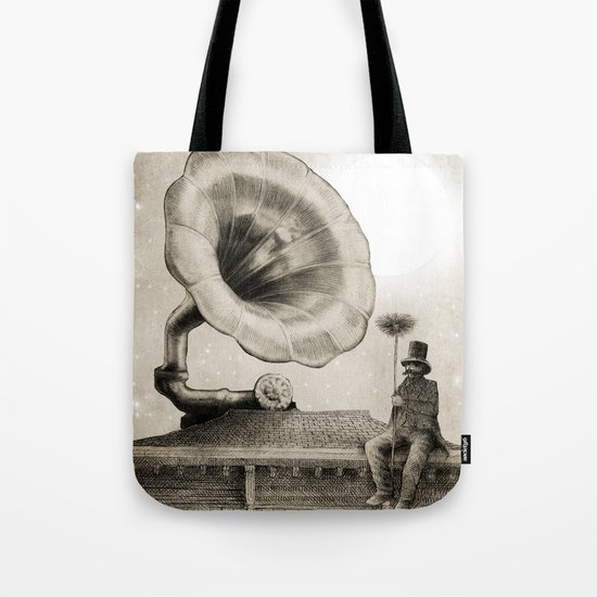 The Chimney Sweep (Monochrome) Tote Bag