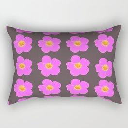 Tiny pink retro flowers on a dark grey background - #Society6 #buyart Rectangular Pillow