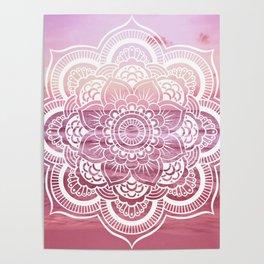 Water Mandala Pink Poster