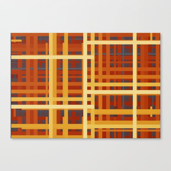 Firey Rectangles Canvas Print