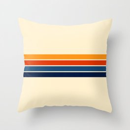 Classic Retro Stripes Throw Pillow