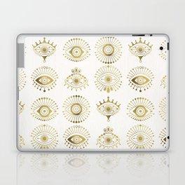 Evil Eyes – Gold Palette Laptop & iPad Skin