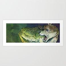 Autofighting Perro Art Print