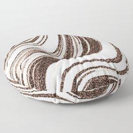 Textured Marble - Brown & Cream Floor Pillow