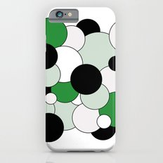 Bubbles - green, black, gray and white iPhone 6s Slim Case