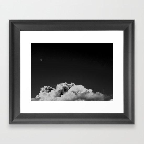 Moon Over Texas Framed Art Print