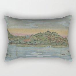 Lake view. Ukiyoe Landscape Rectangular Pillow