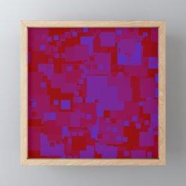blue on red Framed Mini Art Print