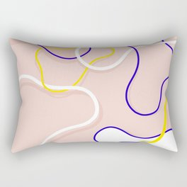 Connecting Organic Lines on Blush Rectangular Pillow