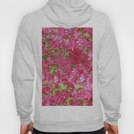GREEN & FUCHSIA PINK CRABAPPLE FLOWER SPRING ART Hoody