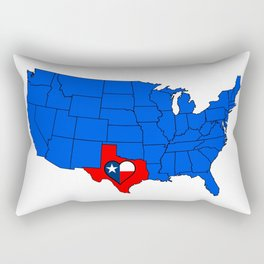 The State of Texas Rectangular Pillow
