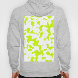 Large Spots - White and Fluorescent Yellow Hoody