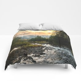 The Sandy River I - nature photography Comforters