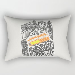 San Francisco Cityscape Rectangular Pillow